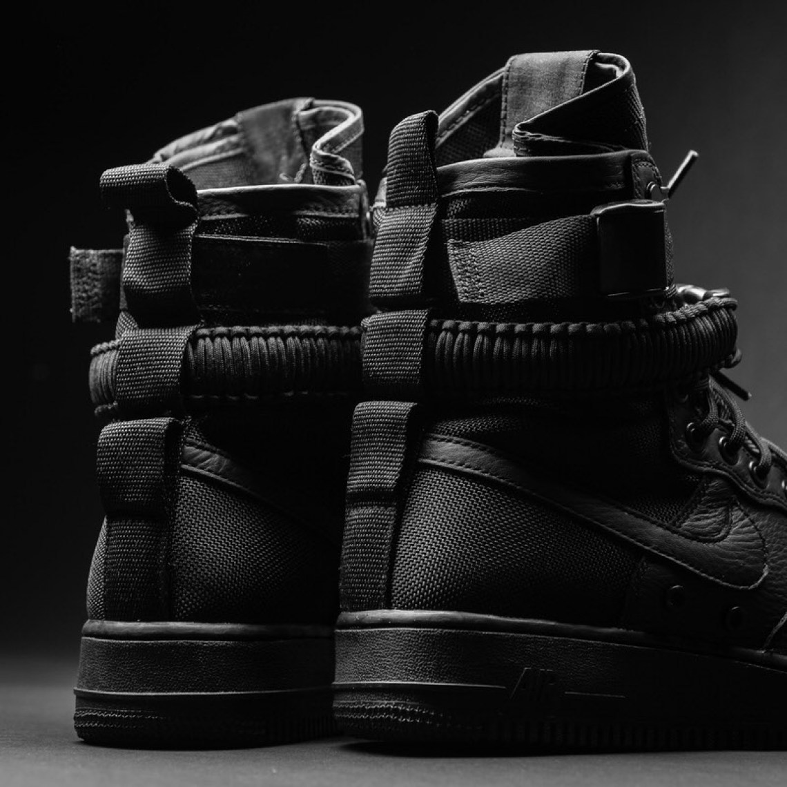 "08d2ba227bf1 Nike SF AF-1 ""Triple Black""    Available Now"
