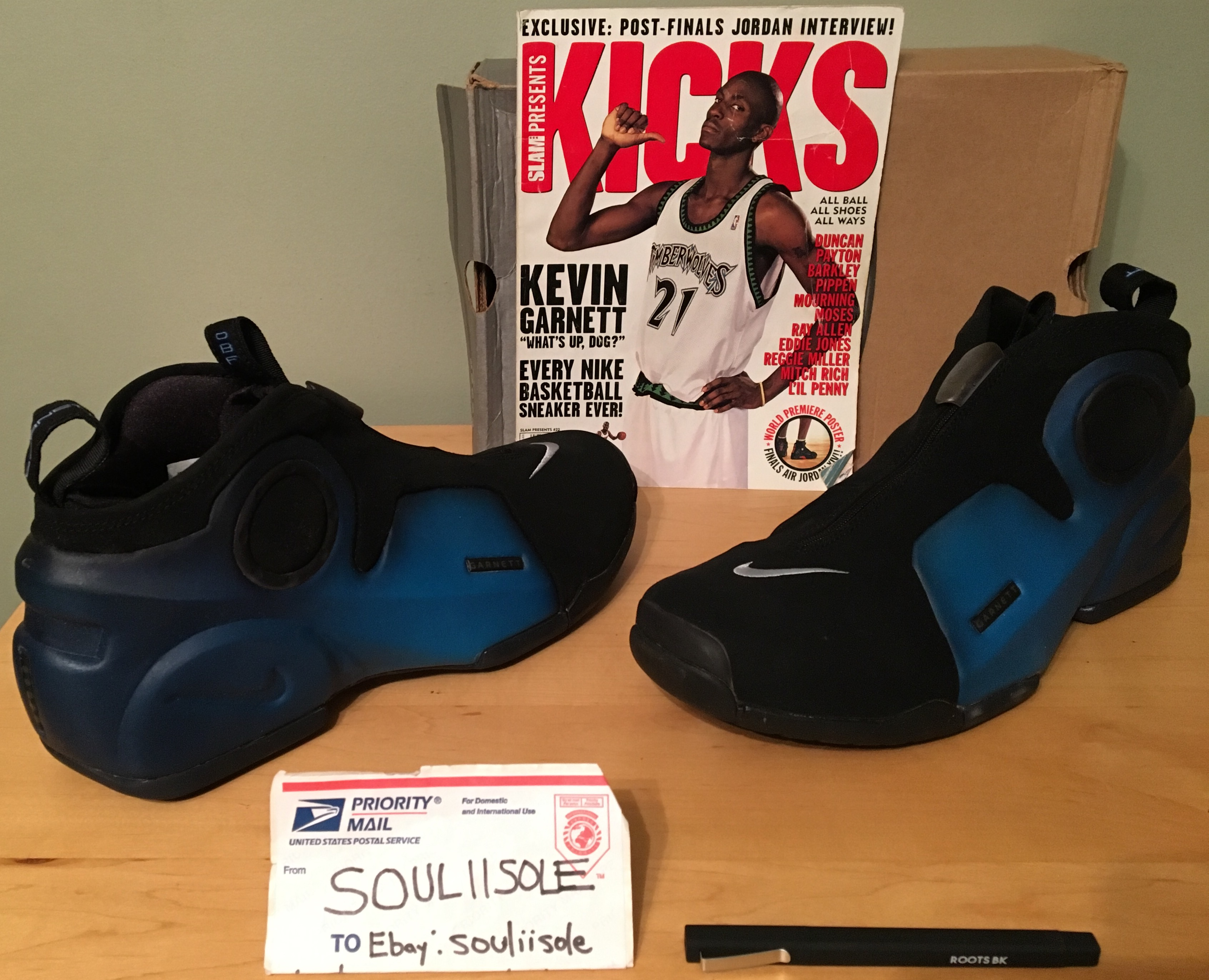"""6f811c98ae3 Several details pertaining to KG s life can be found on the sneaker  including """"Garnett"""" on the heel pull tab and along the front lateral aspect  and the ..."""