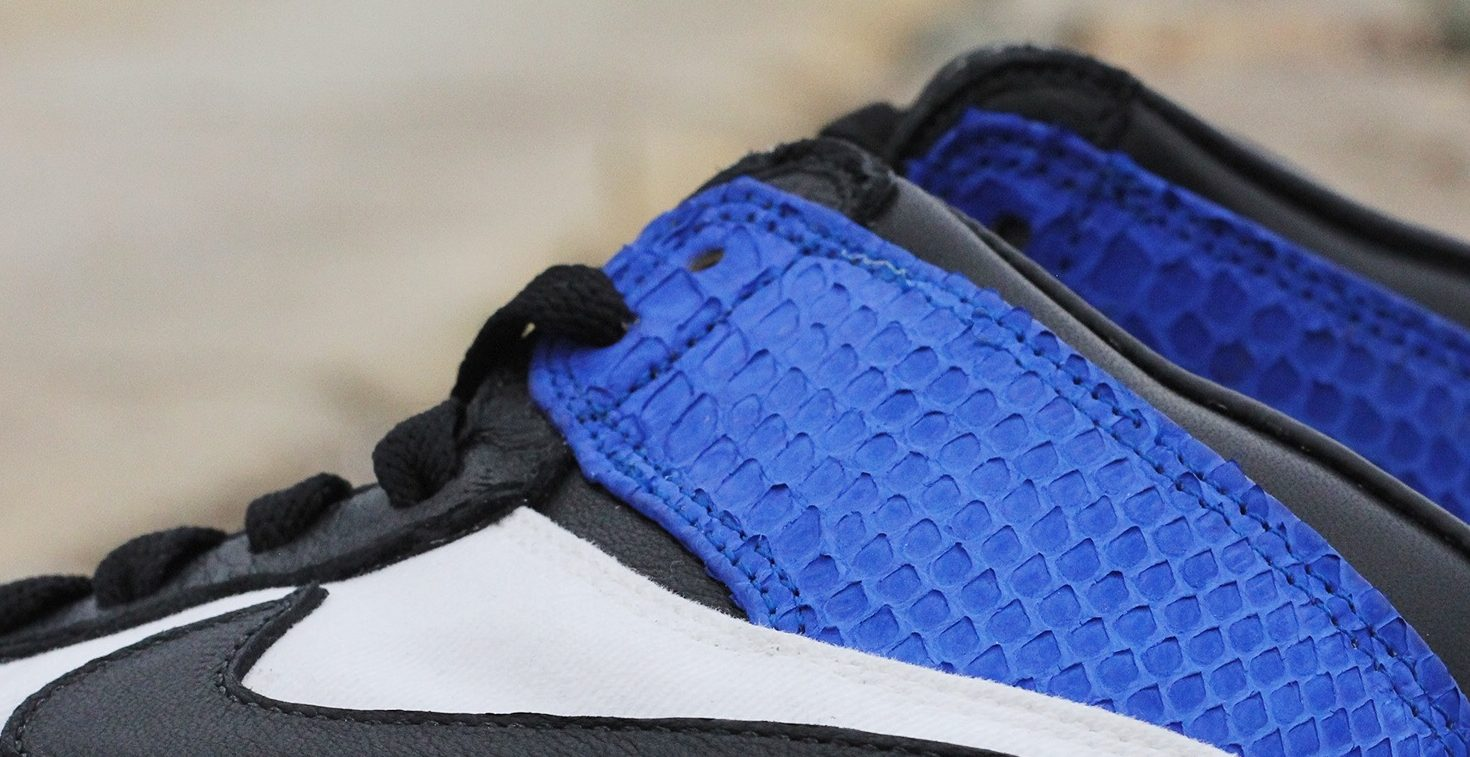 """info for 0a561 7bc4f Air Jordan 1 """"Fragment"""" Motif Gets Exotic Upgrade on New Custom"""