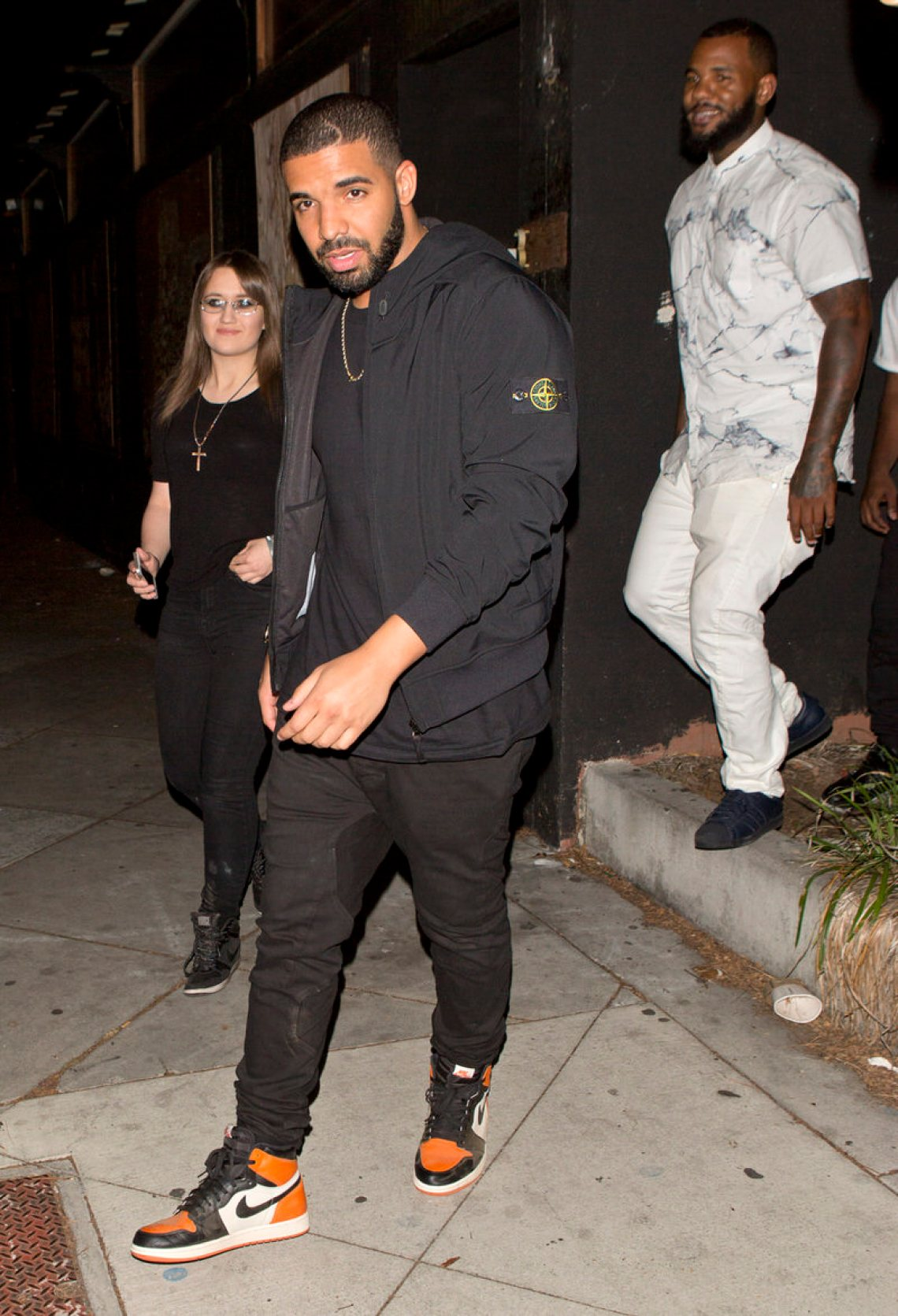 Drake's tactic of embracing simplicity allows his Shattered Backboard Jordan 1's to steal the show.