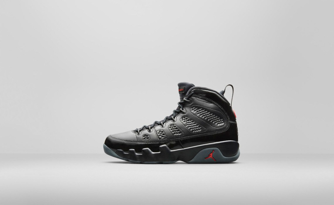 Air Jordan 9 Black/University Red