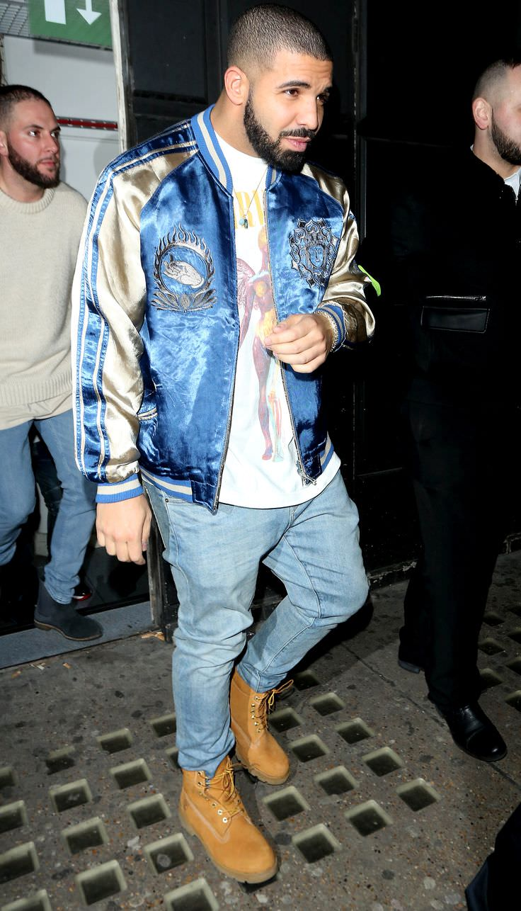 Drake should get a souvenir for his jacket and boots combo. At the very least, at least he's walking away with an impeccable souvenir jacket.