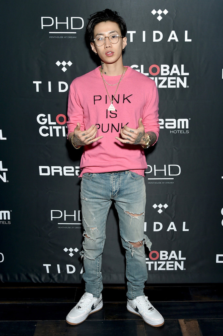 0578548b7408c0 ... Jay Park in the Travis Scott x Nike Air Force 1 Low ...