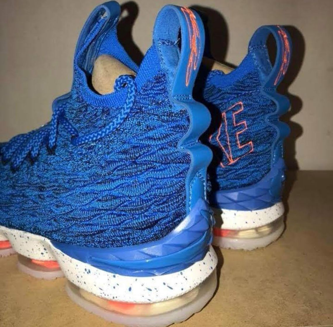 various colors 47f19 1f82f Nike LeBron 15 Blue/Orange // First Look | Nice Kicks