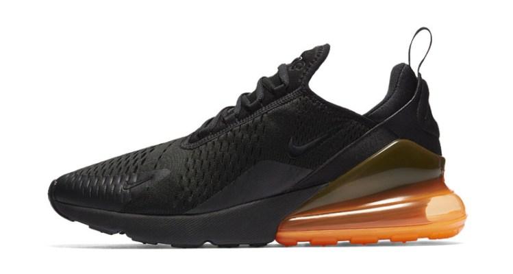 2733f721db Nike Air Max 270 Black Total Orange