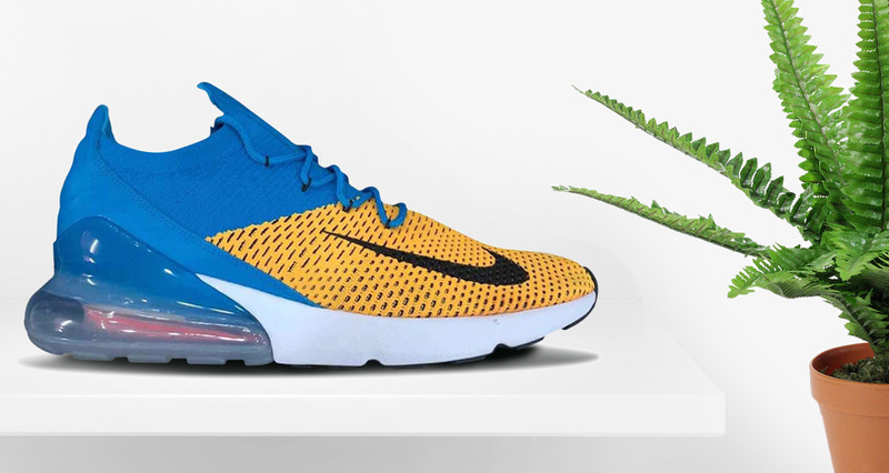 e113b764e Nike Air Max 270 Flyknit Blue/Yellow Preview | Nice Kicks