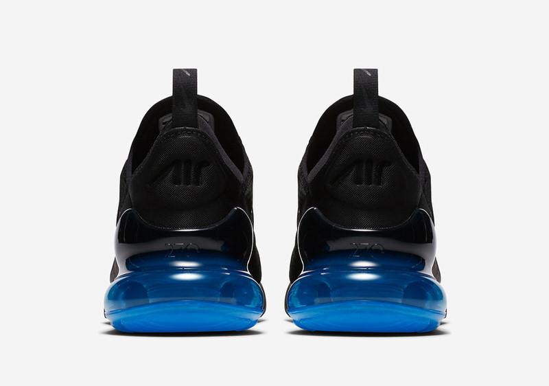 nike air max 270 black and blue