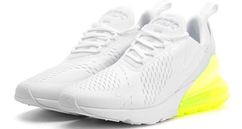 Nike Air Max 270 White/Volt Nice Kicks