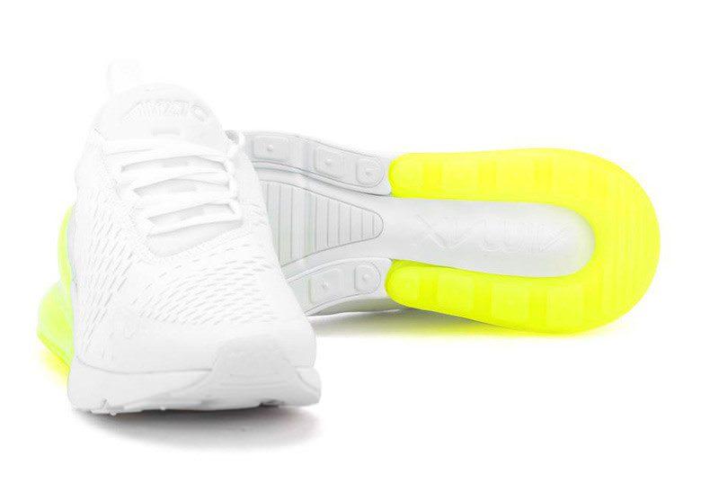 e33a9a75606af7 Nike Air Max 270 White Volt Spring 2018