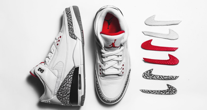 """newest ab605 af412 The Shoe Surgeon Upgrades """"JTH"""" Air Jordan 3 with Interchangeable Swooshes"""
