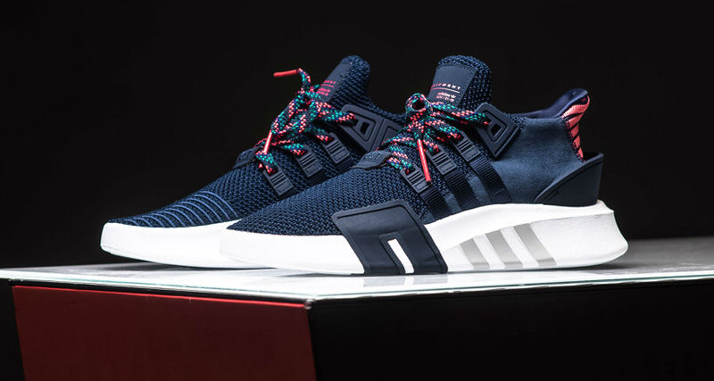 0526be94496 ... pink casual sports shoes 0f865 5875e  canada adidas eqt basketball adv  navy real coral available now nice kicks 42144 9c108