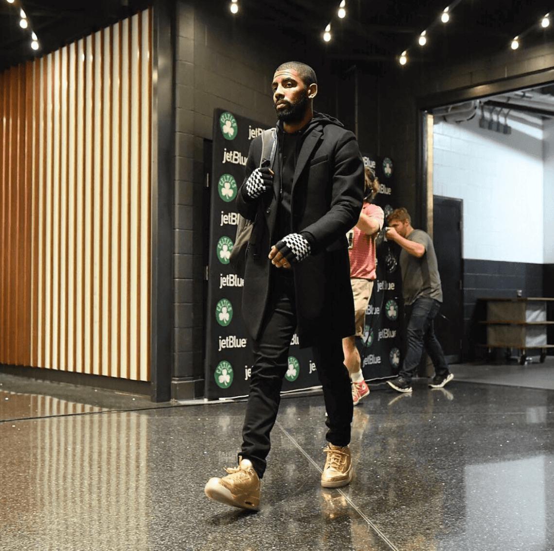 "Kyrie Irving in the Air Jordan 3 ""Usher PE"""