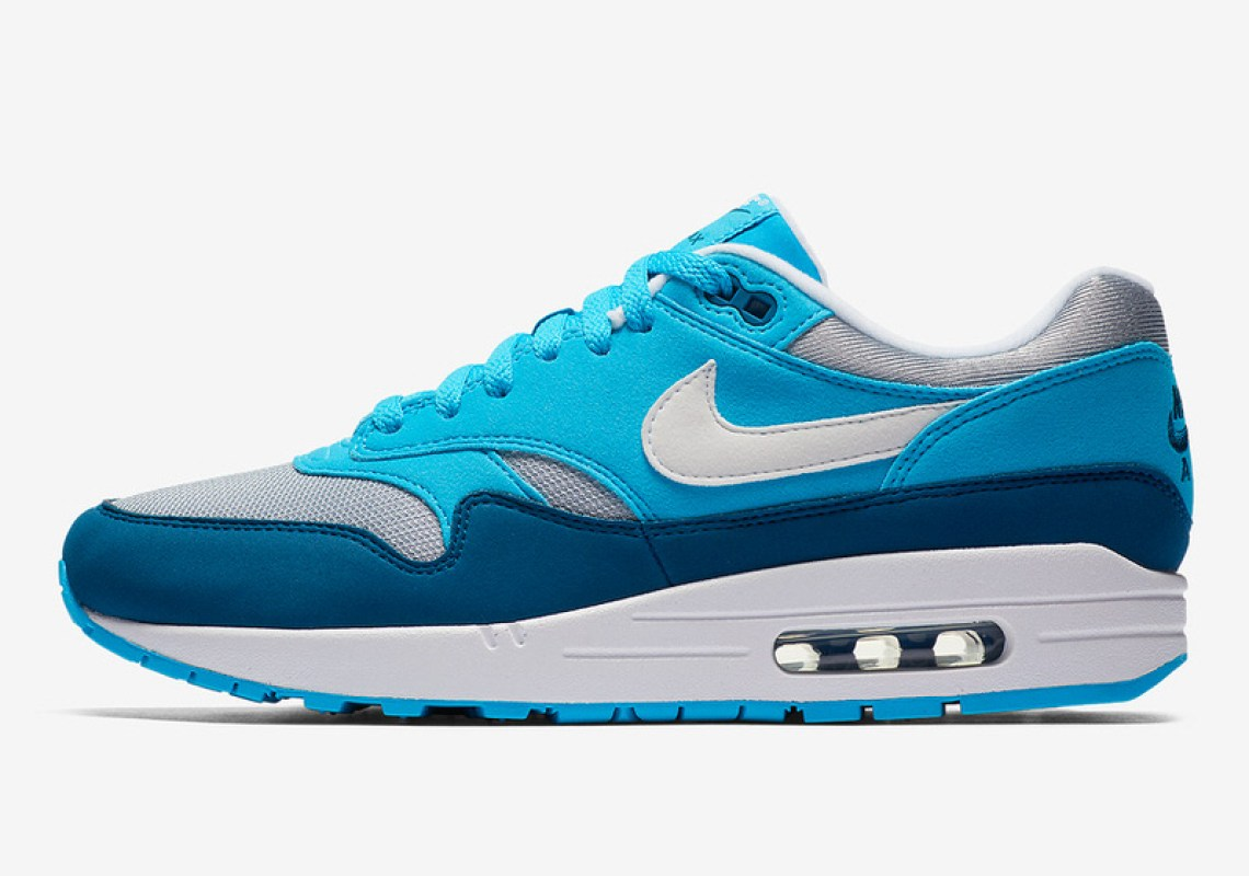 nike air max 1 blue force available now nice kicks. Black Bedroom Furniture Sets. Home Design Ideas