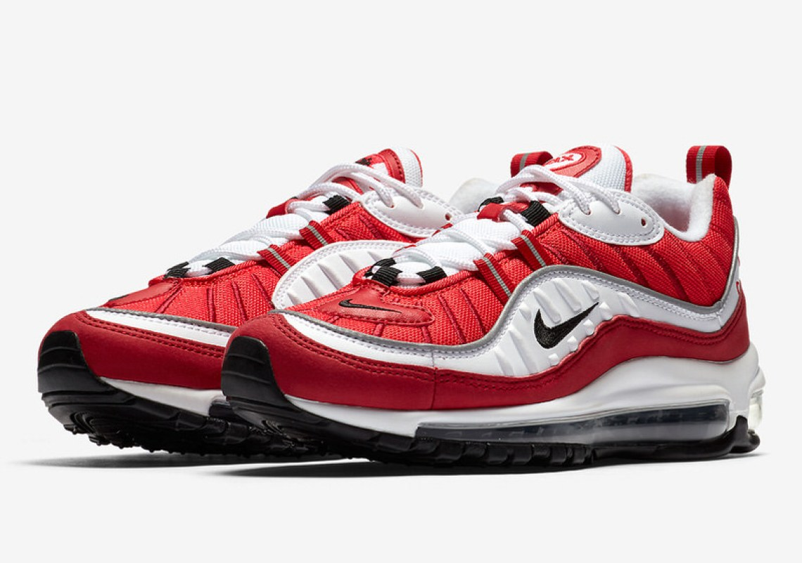 b43857aa042dc2 Nike Air Max 98 Red White Spring 2018