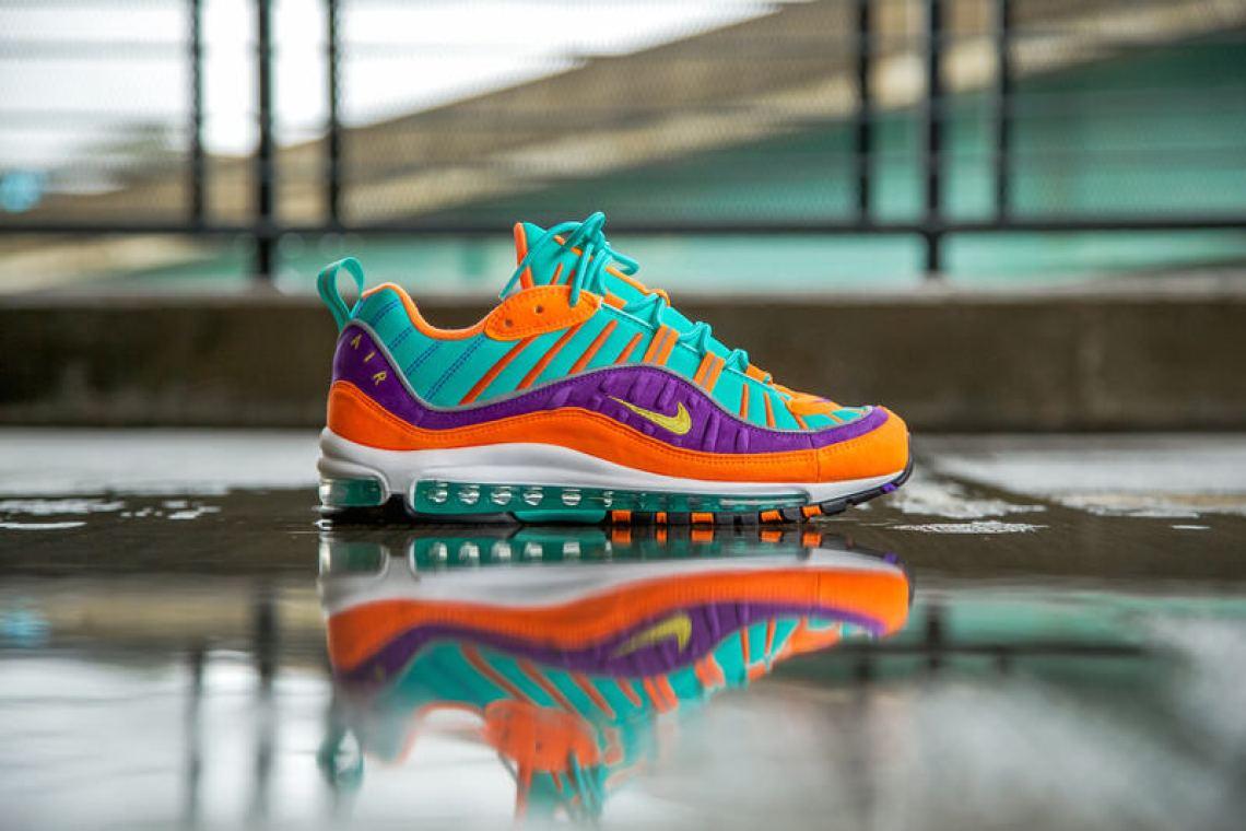 """3cad1c2a625da6 Nike Air Max 98 """"Cone""""    Release Date"""