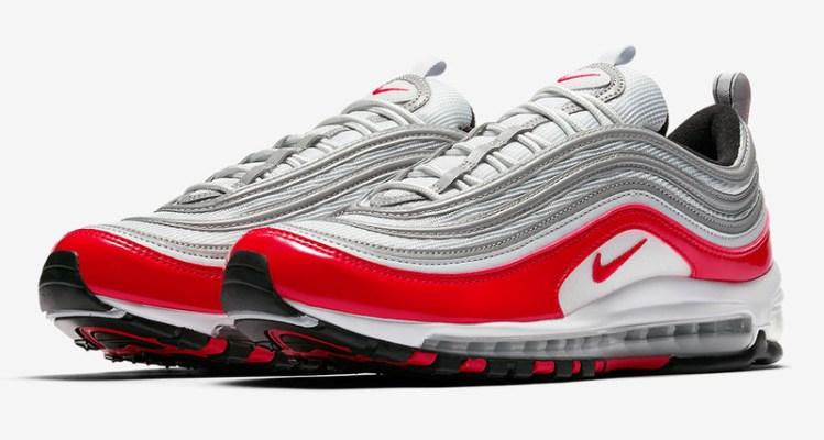 Nike Air Max 97 Grey/Varsity Red