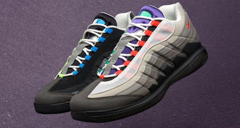 "c87655e4174582 NikeCourt Vapor RF x Air Max 95 ""Greedy"" Releases This Month"