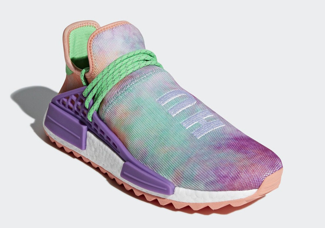 "Pharrell x adidas NMD Hu ""Powder Dye"" Pack"