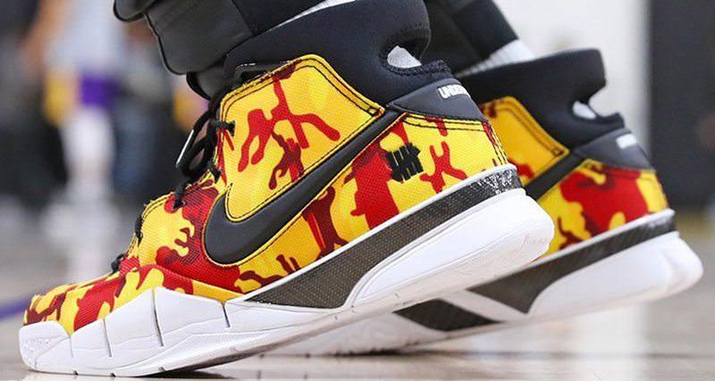 "837ab8745319 Isaiah Thomas Reveals Undefeated x Nike Zoom Kobe 1 Protro PE ""Yellow Camo"""