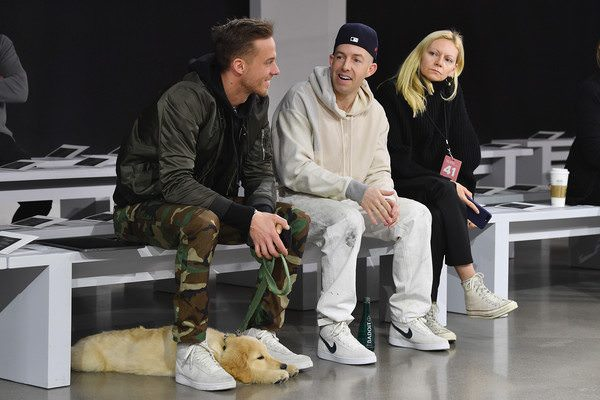 There's a good chance that the painter pants that Elliott has on will be in his Fall 18 line. And this photo is our inspiration for how to wear them.