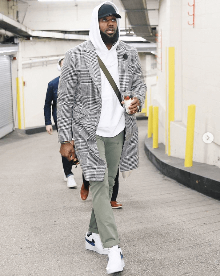 1b5a5860672be5 Sean Combs in Gucci sneakers Lebron James in the Nike Air Force 1 Low