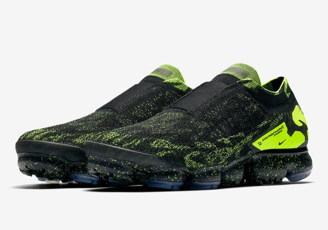 ACRONYM x Nike Air VaporMax Moc Black Volt Release Date  e6ad39d17