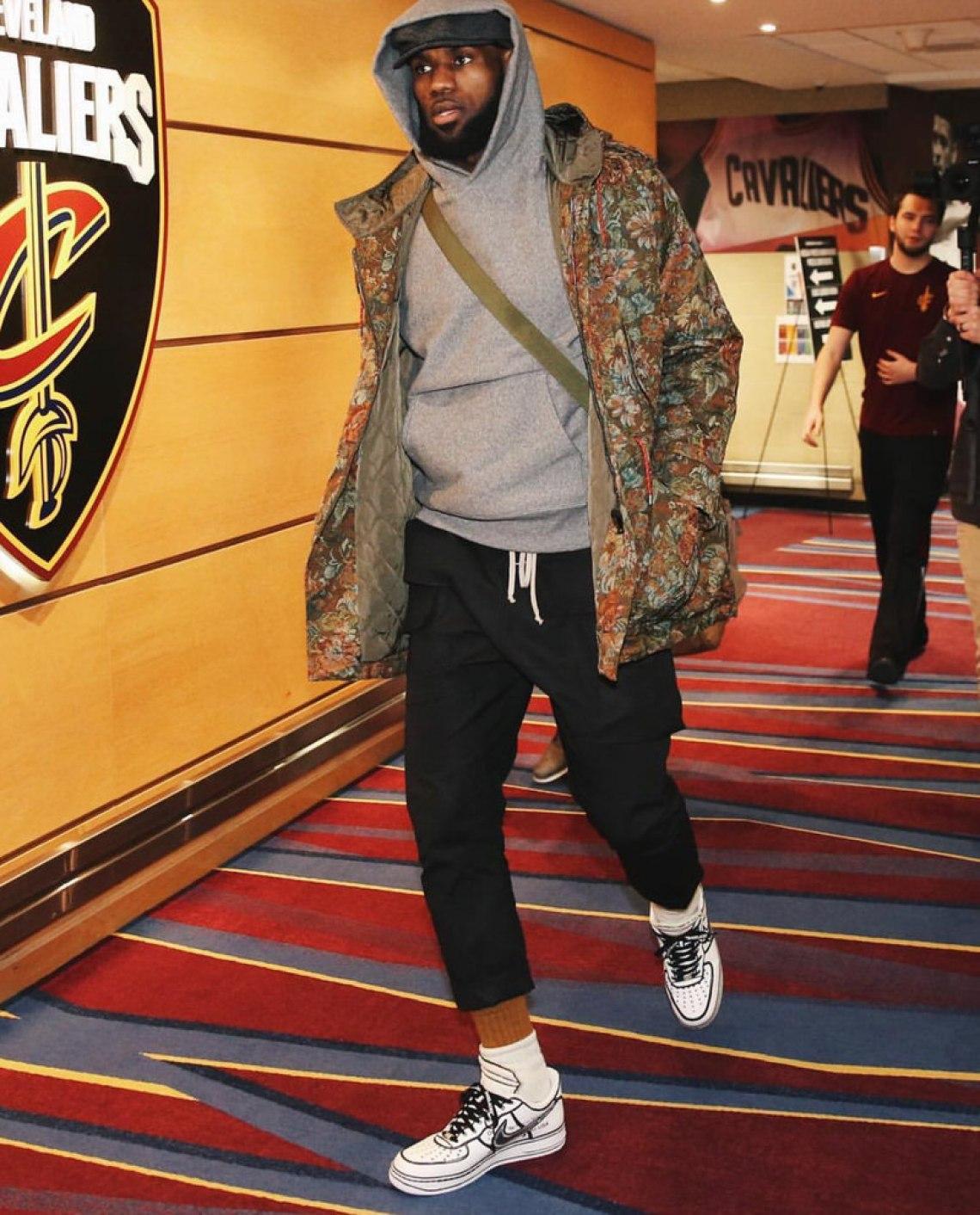 e04443f6f755ed ... x adidas Ozweego LeBron James in custom Nike Air Force 1 Lows by Joshua  Vides ...