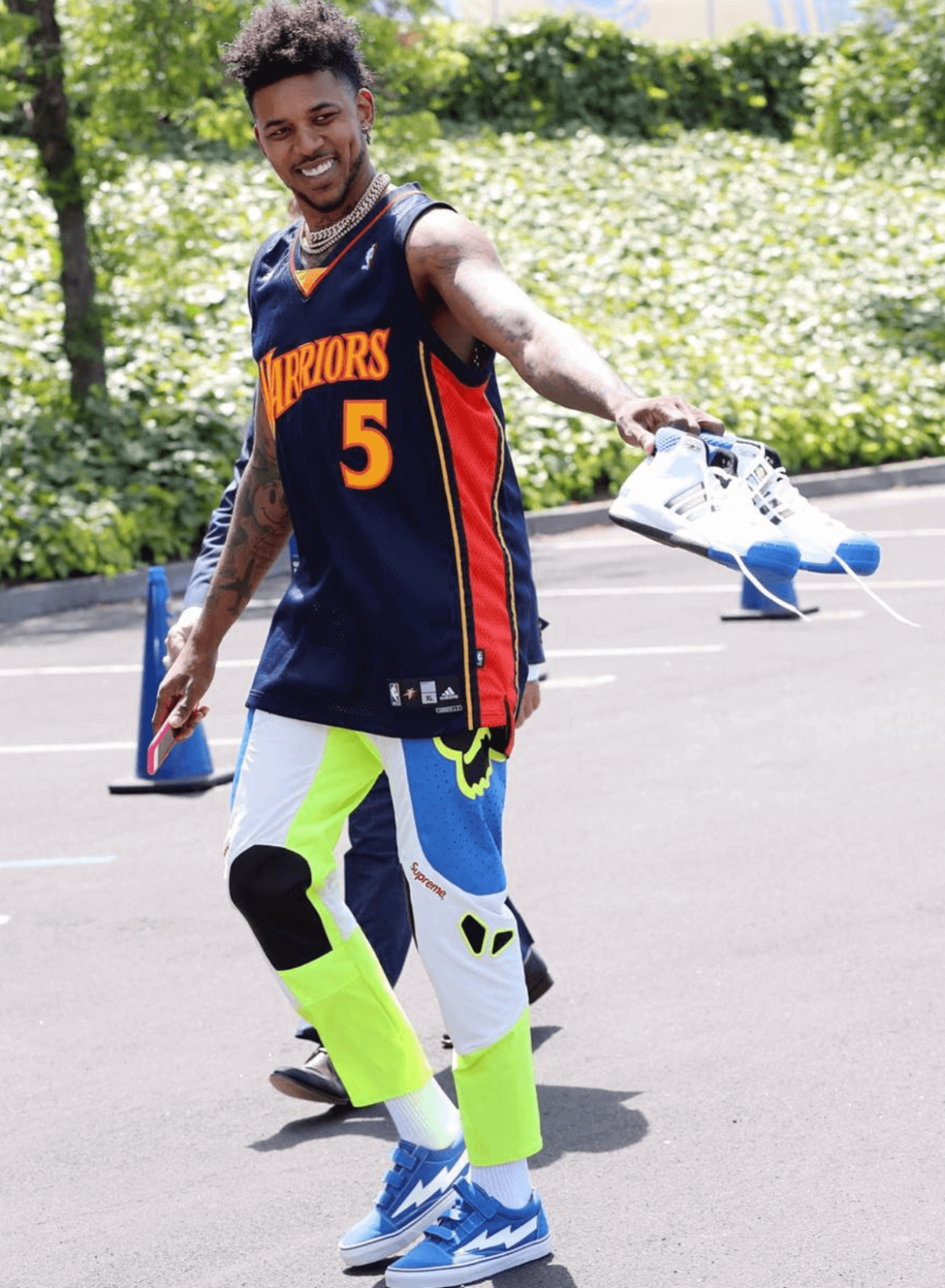 Nick Young in the Revenge Storm Sneakers