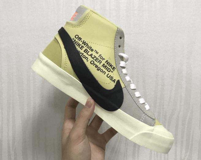 """OFF WHITE x Nike Blazer """"Yellow"""""""