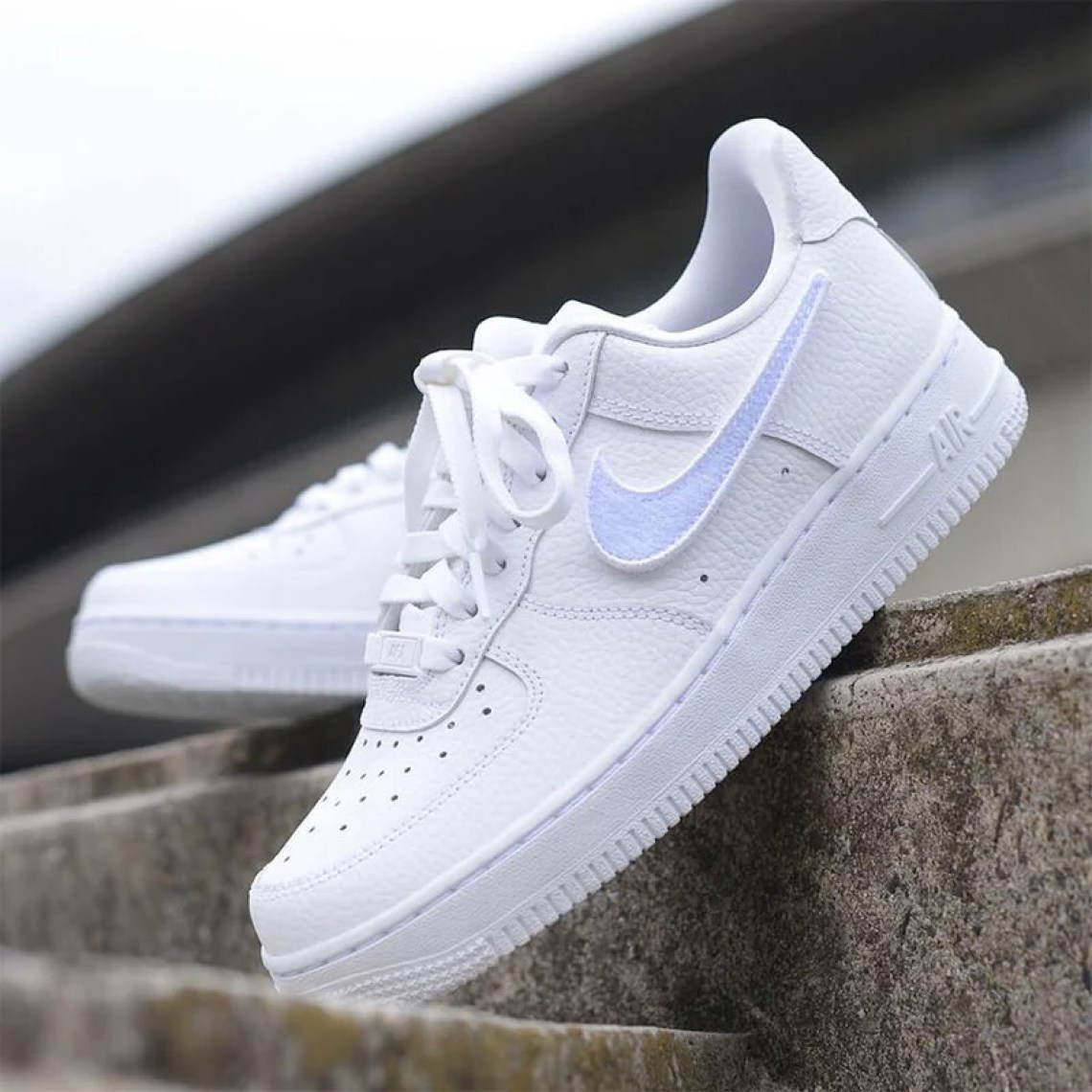 nike air force 1 100 for women features removable swoosh. Black Bedroom Furniture Sets. Home Design Ideas