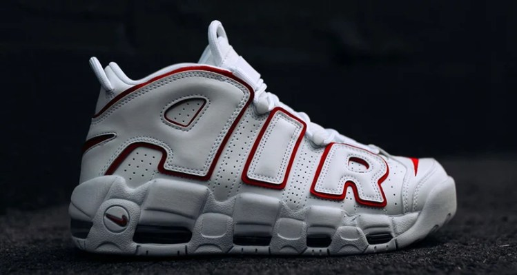 the best attitude b6784 40b50 Nike Air More Uptempo White Red