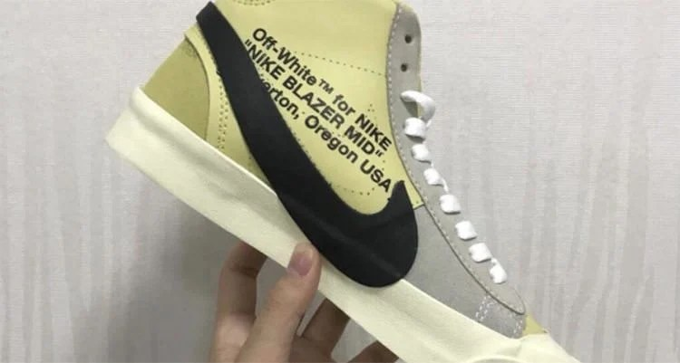 "OFF WHITE x Nike Blazer ""Yellow"""