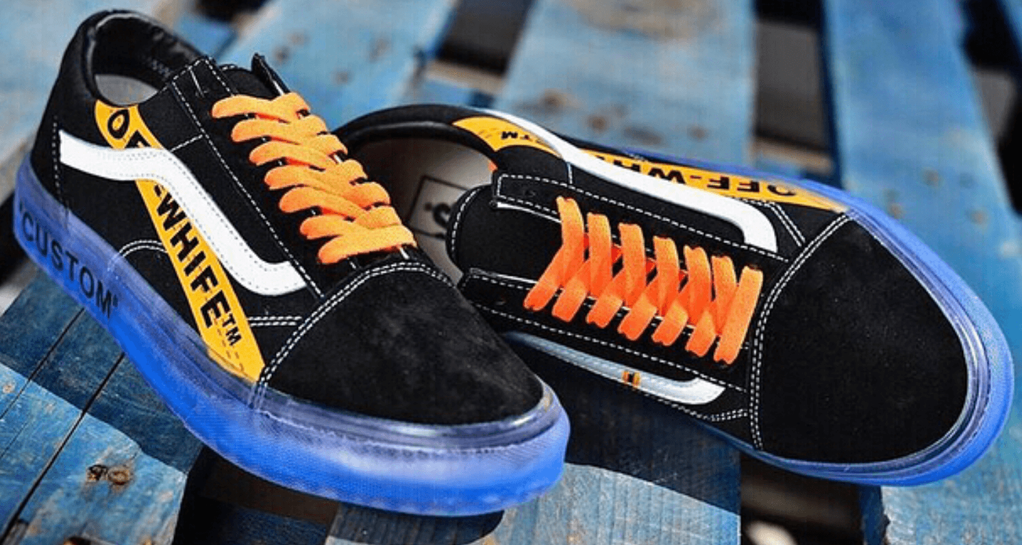 c1869e8a1d888b Off-White Inspiration Makes for Awesome Old Skool Custom