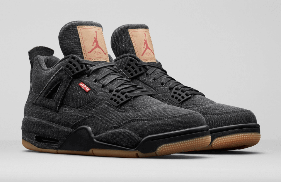 best website 16c0e d648f ... levis x air jordan 4