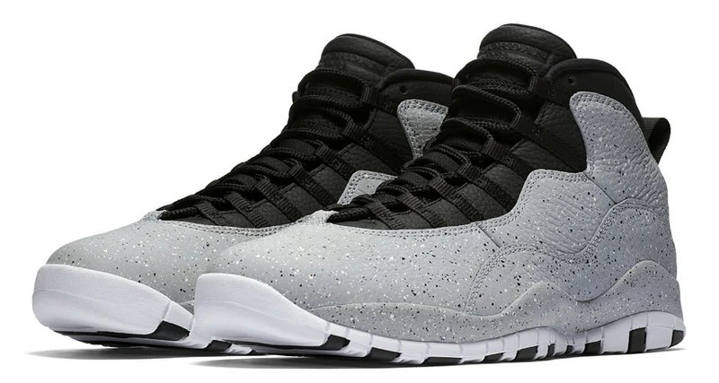 ... germany air jordan 10 light smoke features lots of cement print 29cd0  34ccd 34378df6f