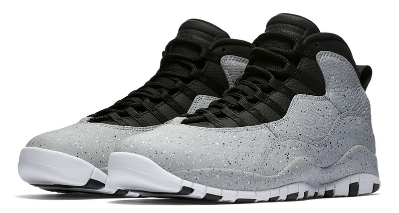 "4d77baab4559a3 Air Jordan 10 ""Light Smoke"" Features Lots of Cement Print"