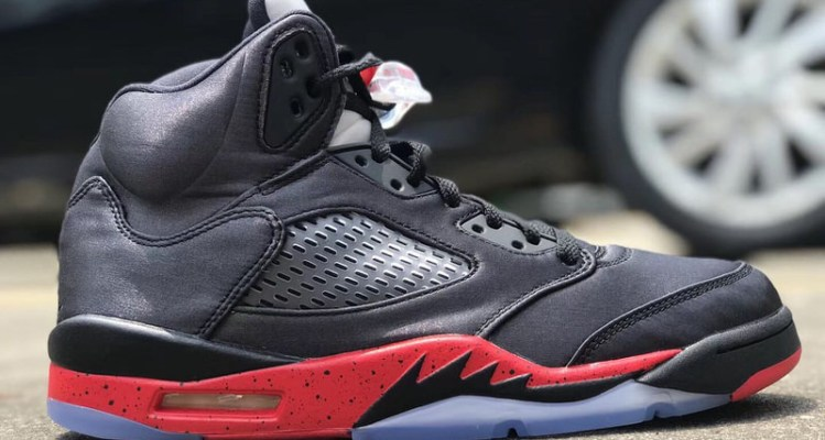 Air Jordan 5 Satin Black/Red