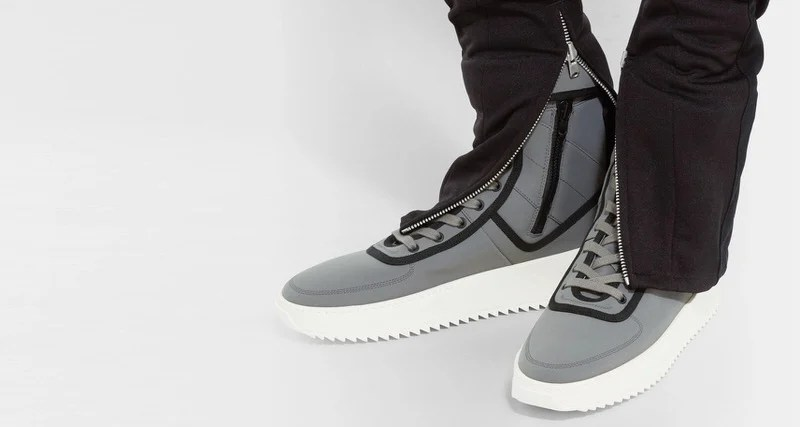size 40 19354 e32be Fear of God Military Nylon High-Top Sneakers    Available Now