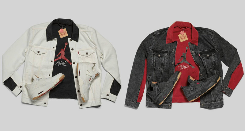 5ef66186c28 Upcoming Levi's x Air Jordan 4s Are Also Coming with Jackets | Nice ...