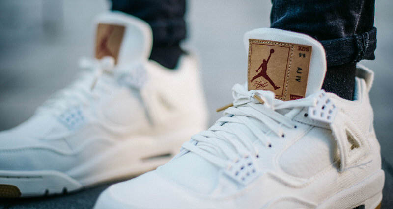 """info for 41f4b ce762 A Closer Look at the """"White"""" Levi s x Air Jordan 4"""