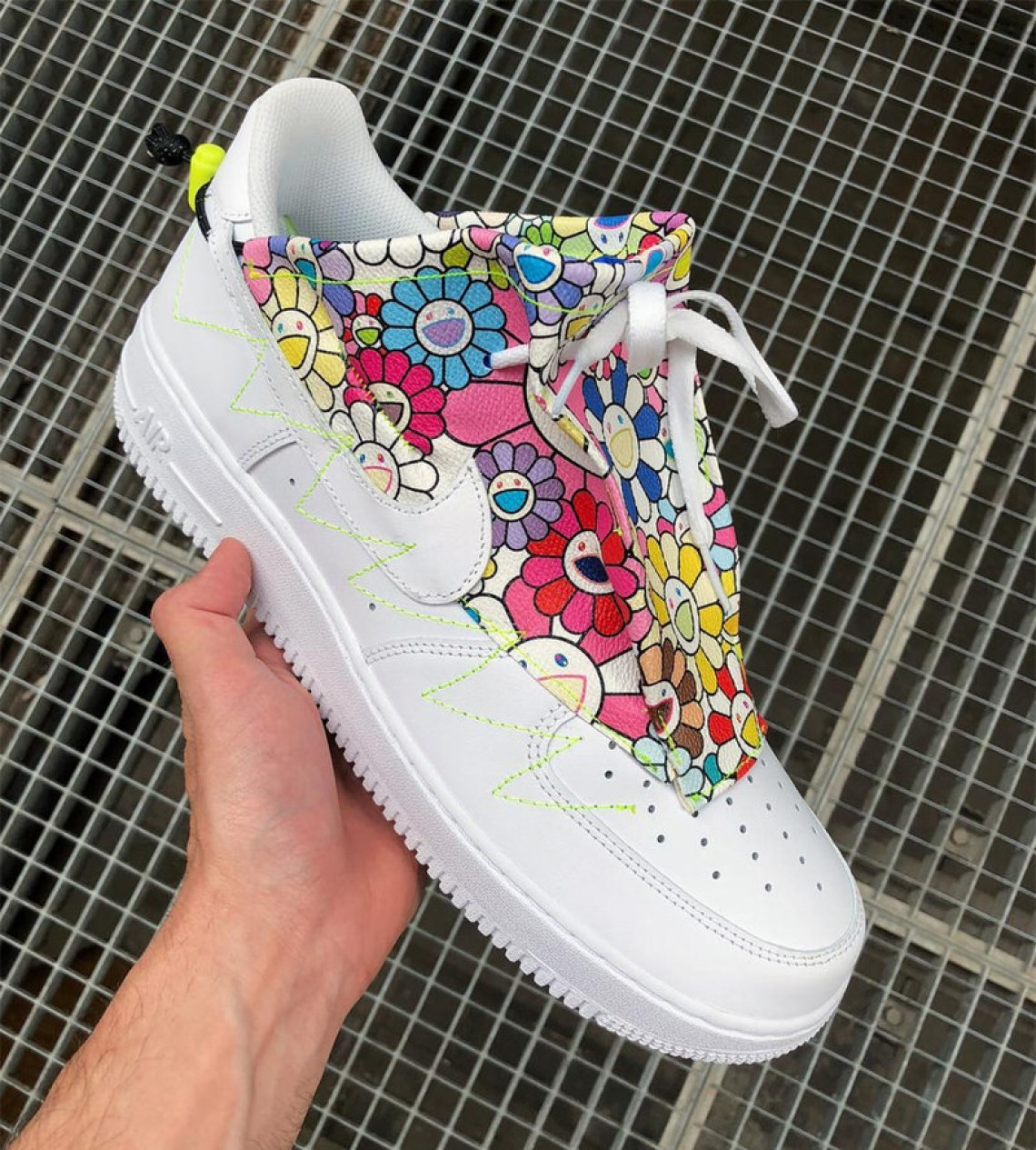 e0145f896619 Takashi Murakami Wears Custom Air Force 1 During Paris Fashion Week