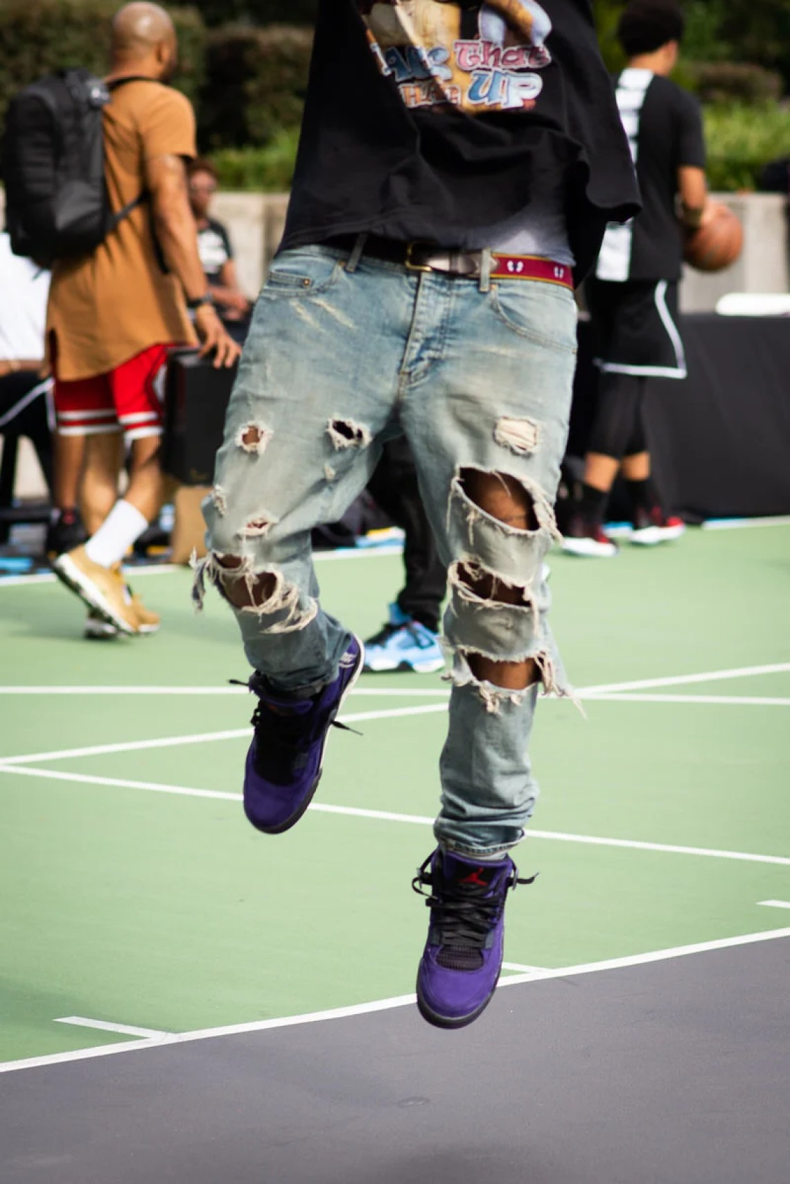 "For the best look yet at the Travis Scott x Air Jordan 4 ""Purple Suede 59bf762e4"