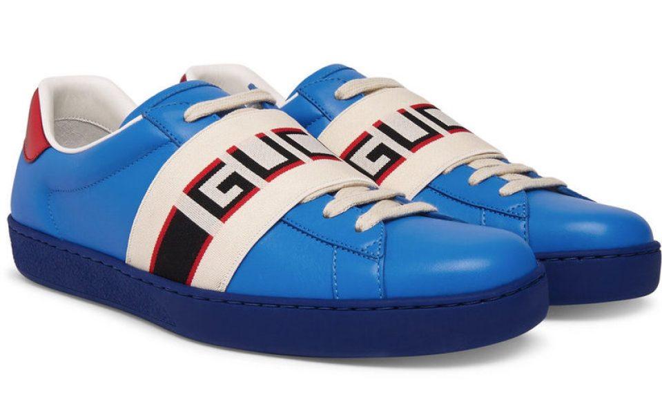 Gucci Logo Print Sneakers