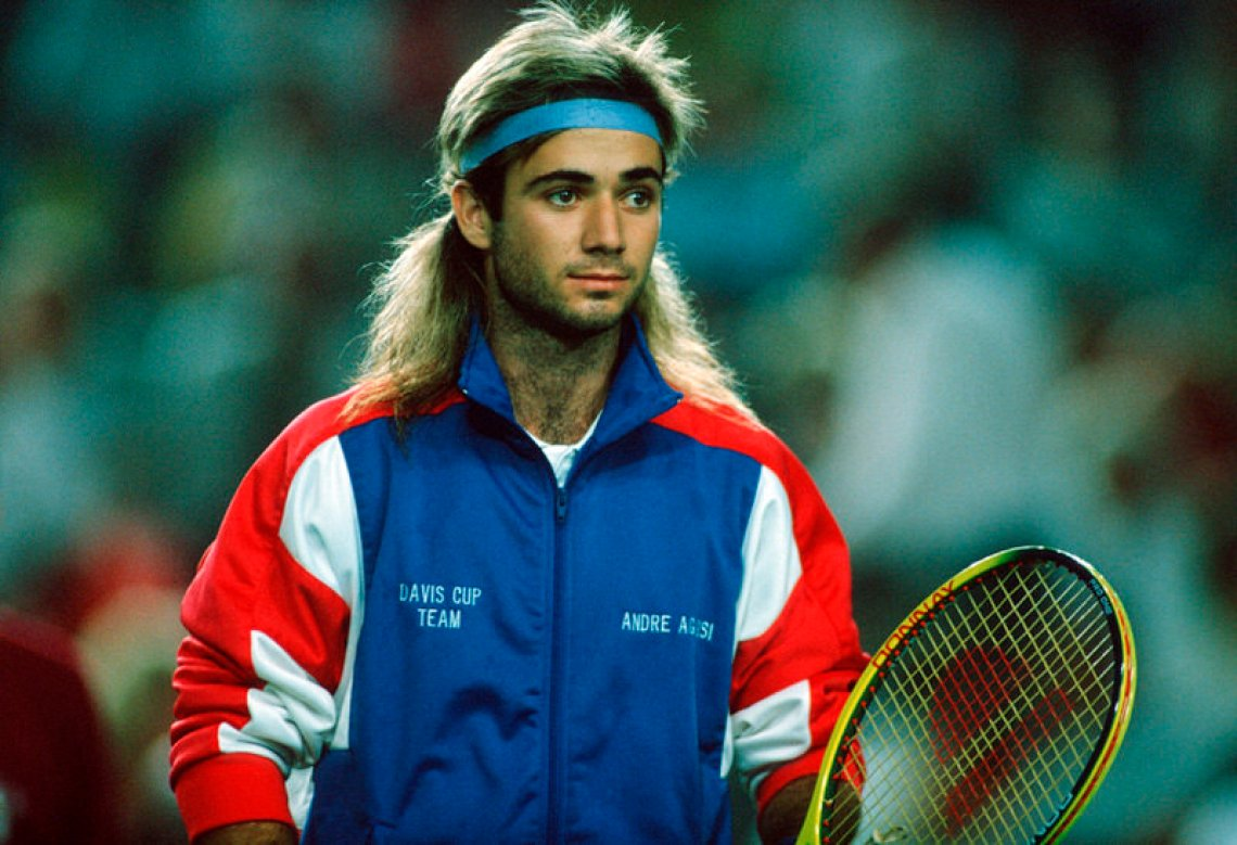 The mullet, the headband, the attitude, and that track jacket that's never been more in style.