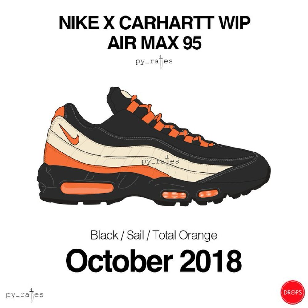 6cf27a5648f8 The shoe is expected to come with a Black and Sail upper accented by Orange  hits found on the upper and or sole unit.