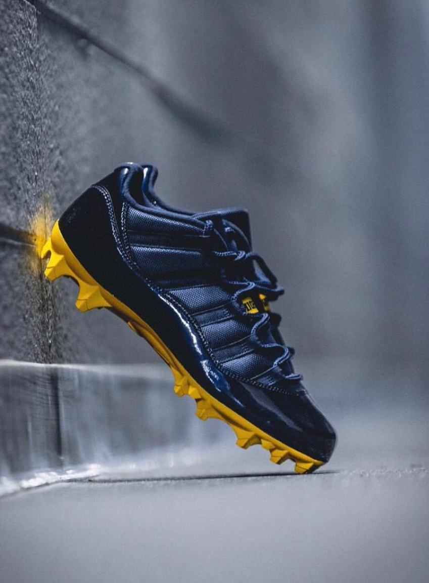 "Air Jordan 11 Low ""Michigan"" PE Cleats"