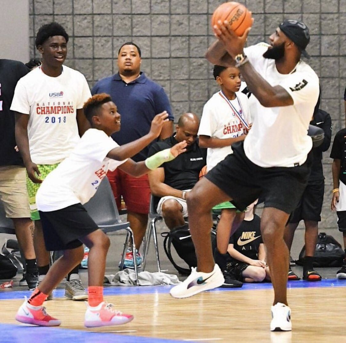 Lebron James in the Nike Air Skylon