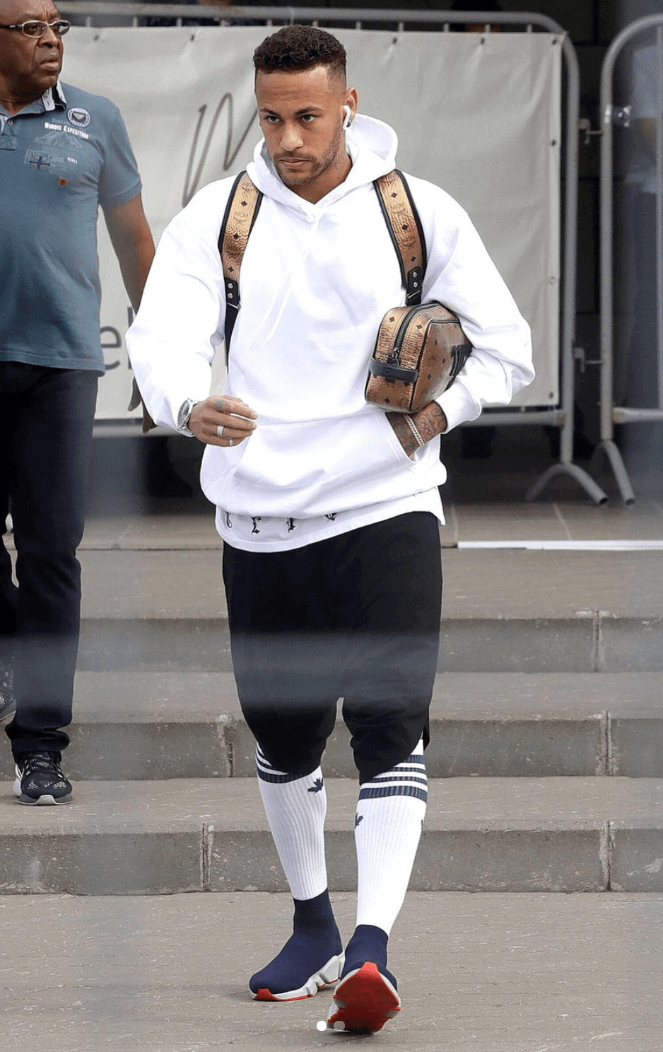 Neymar in the Balenciaga Speed Knit Sneakers