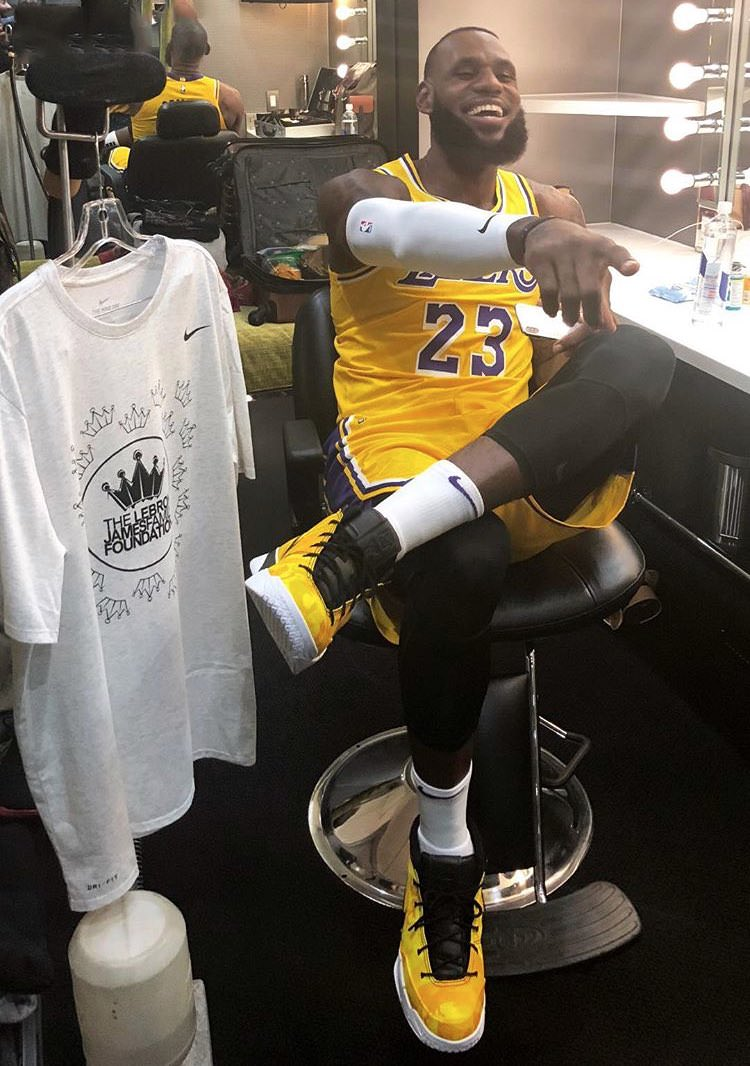 Lebron James in the Undefeated x Nike Kobe 1 Protro