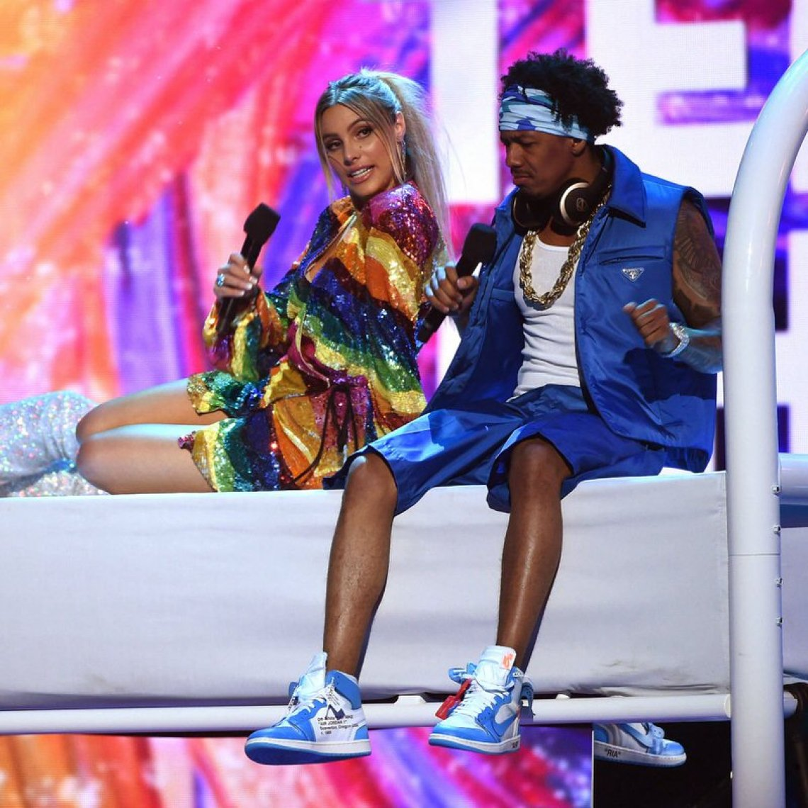 """Nick Cannon in the Off White x Air Jordan 1 """"UNC"""""""